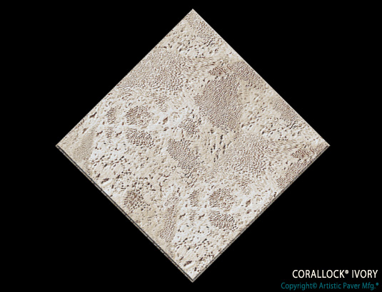Artistic Pavers colors - corallock - ivory