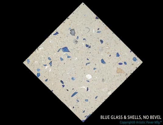 Artistic Pavers colors - custom - blue glass