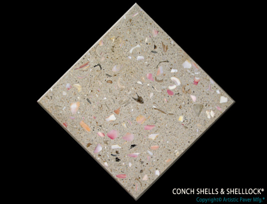 Artistic Pavers colors - custom - conch shell