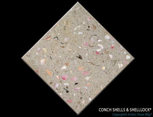 Detail Custom Conch Shell Paver
