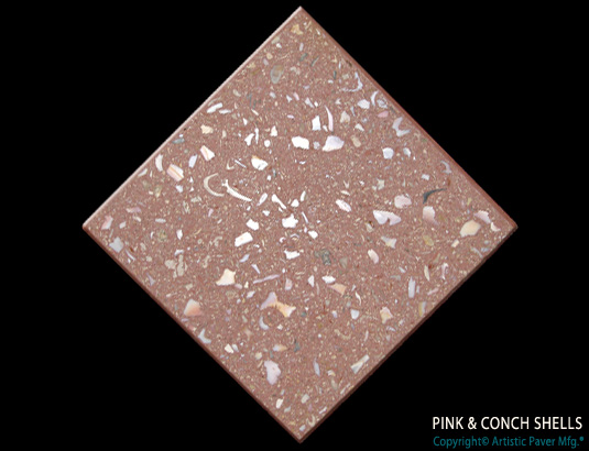 Artistic Pavers colors - custom - pink conch