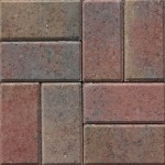 gem pavers mix 3 red tan charcoal color