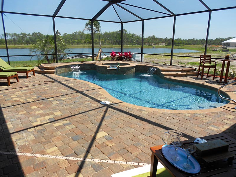 olde towne autumn blend pool deck