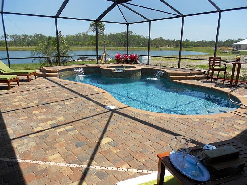 olde towne autumn blend pool deck