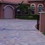 peach coral huntington paver driveway