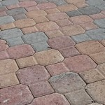 red tan charcoal color pavers