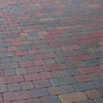 red tan charcoal pavers driveway