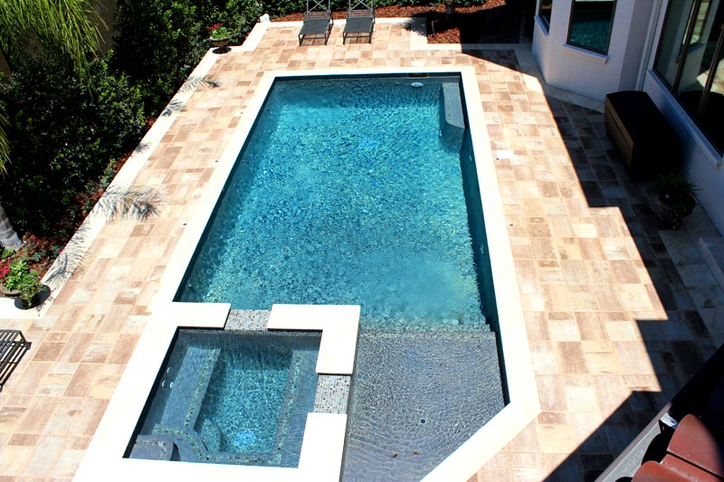 tremron bluestone sand dune pool deck