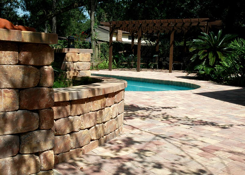 Tremron Olde Towne Autumn Blend Pool Deck Pavers And