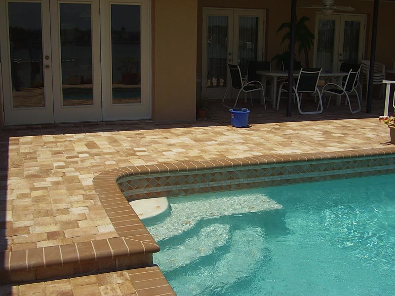 Tremron Olde Towne Cappuccino Pool Deck Residential