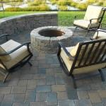 tremron olde towne santa fe pavers with firepit