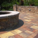 tremron stonehurst autumn blend pavers and firepit