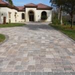 tremron stonehurst mahogany ash paver driveway