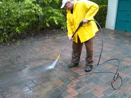 pressure washing pavers