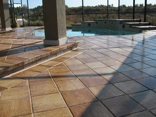 sealed pool pavers